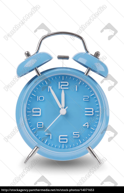 blue, alarm, clock, isolated, on, white - 14071653