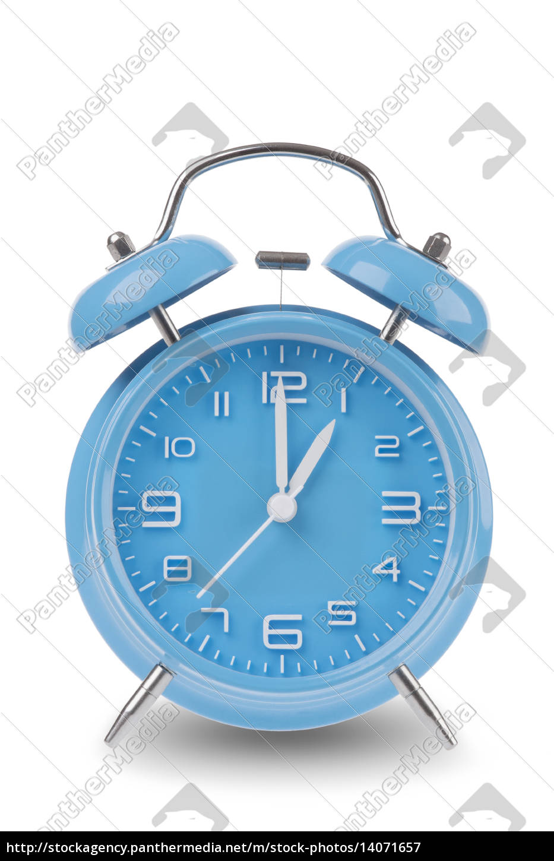 blue, alarm, clock, isolated, on, white - 14071657