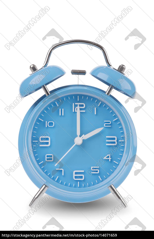 blue, alarm, clock, isolated, on, white - 14071659