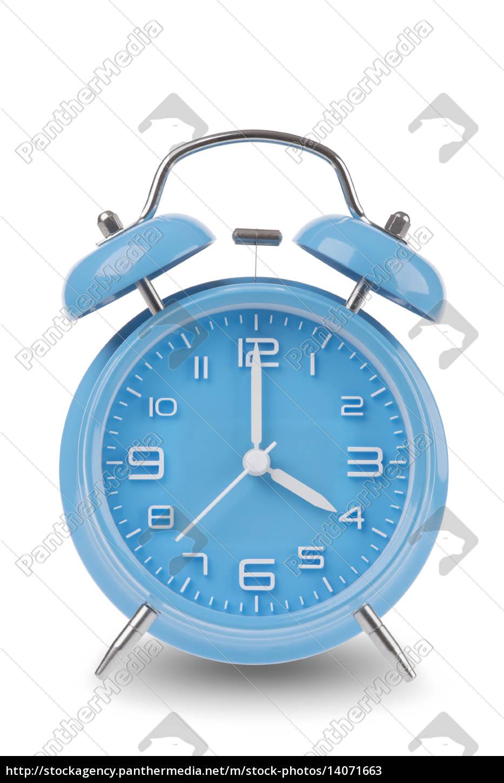 blue, alarm, clock, isolated, on, white - 14071663