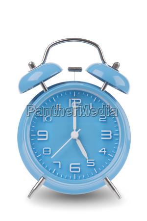 blue, alarm, clock, isolated, on, white - 14071665