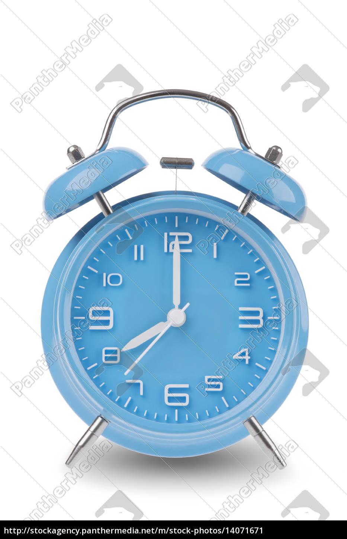 blue, alarm, clock, isolated, on, white - 14071671