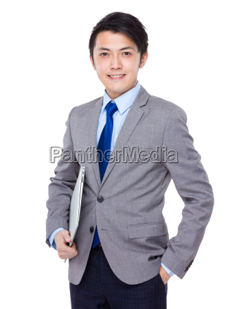 businessman, carry, with, notebook, computer - 14071449