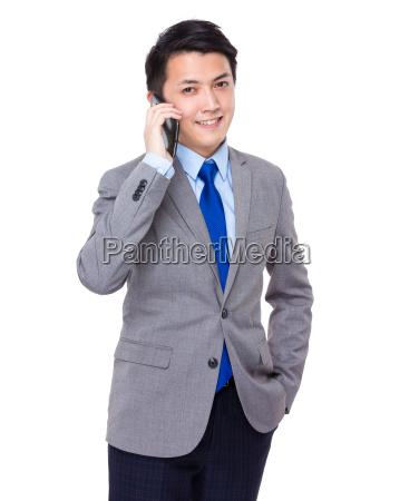 businessman, talk, to, cellphone - 14071457