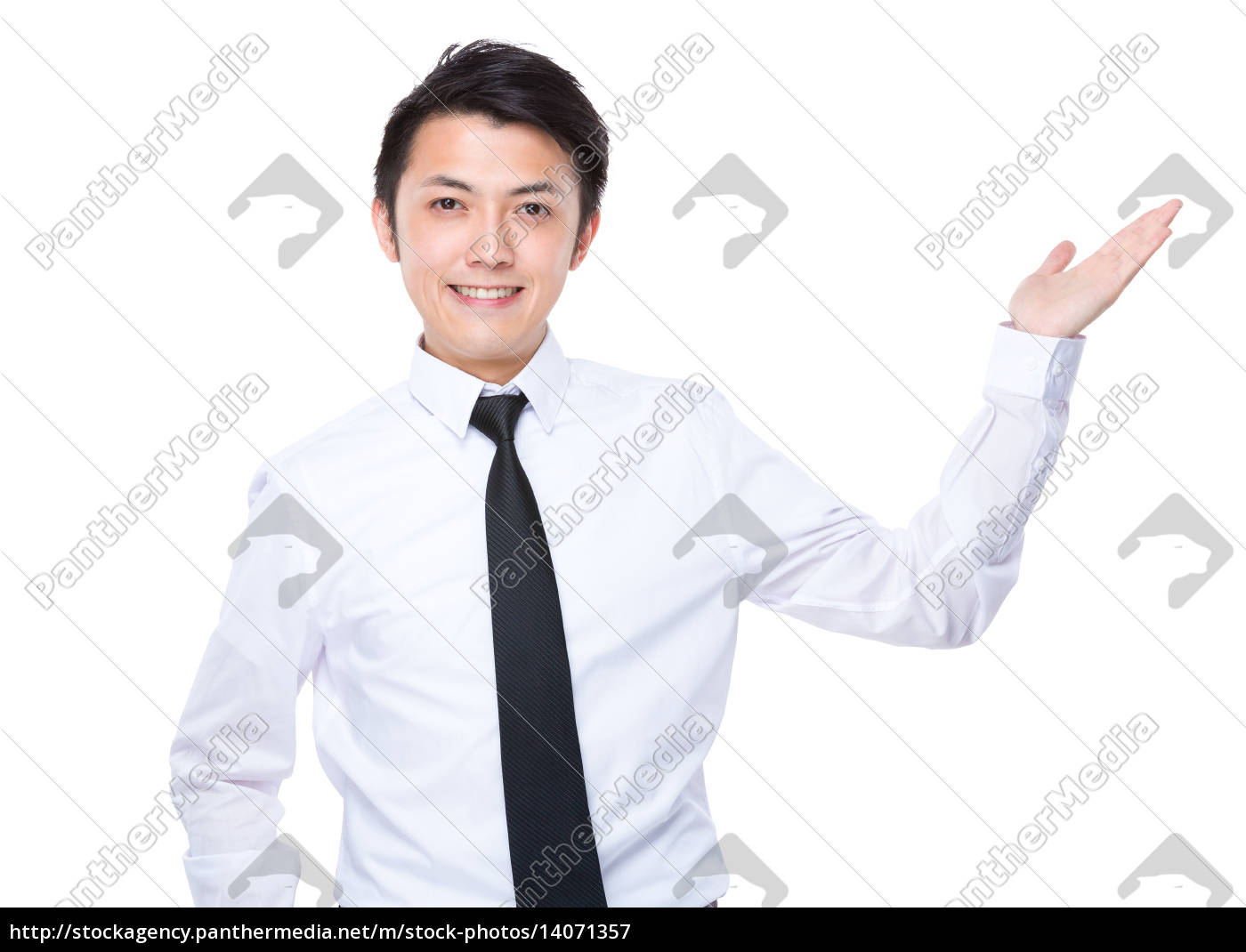 businessman, with, hand, show, with, something - 14071357