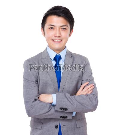 confident, and, friendly, business, man, portrait - 14071463