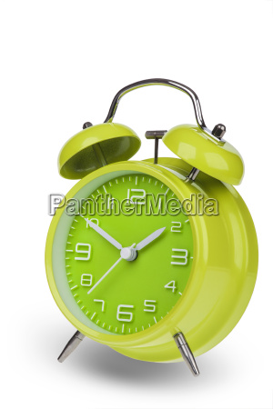 green, alarm, clock, with, the, hands - 14071591