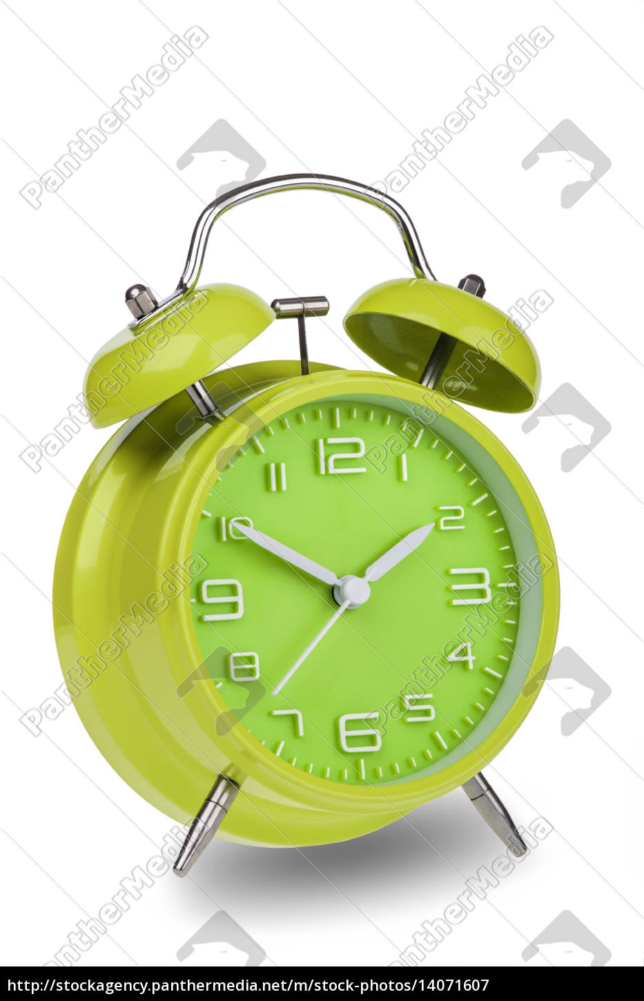 green, alarm, clock, with, the, hands - 14071607