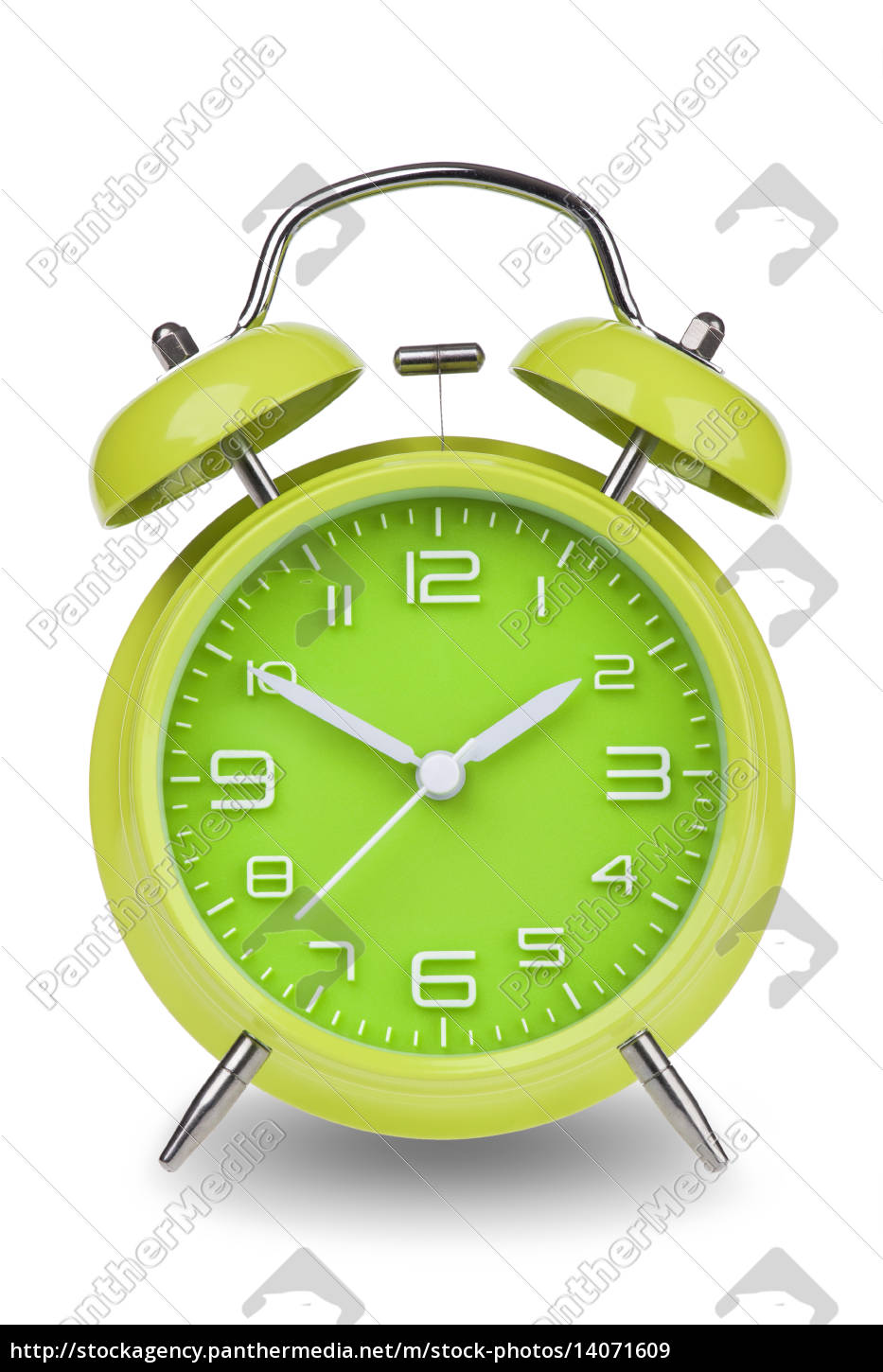 green, alarm, clock, with, the, hands - 14071609