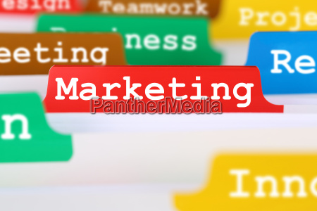 marketing or advertising for company in