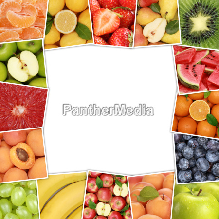 frame from fruits and fruits like