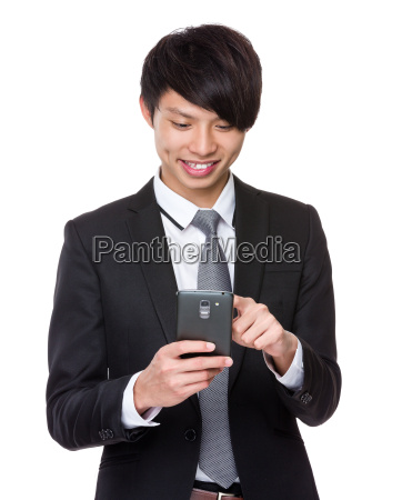asian, businessman, use, of, mobile, phone - 14073669