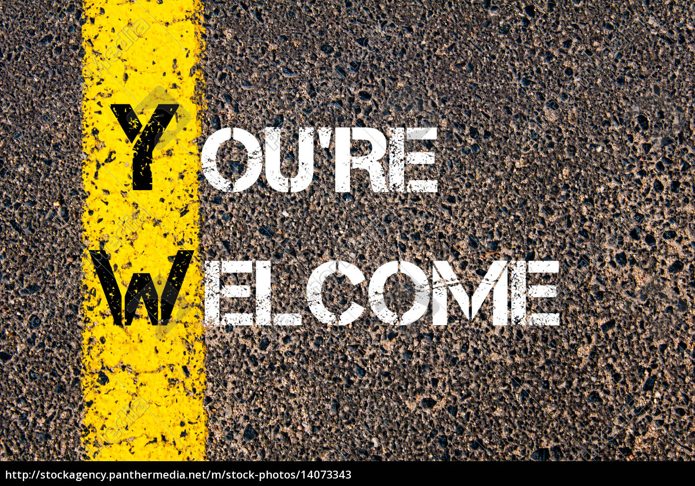 business, acronym, yw, as, you're, welcome - 14073343