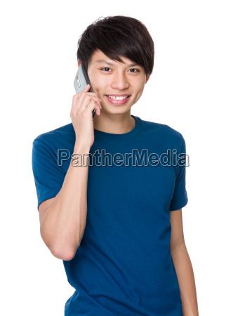 man, talk, to, phone - 14073991