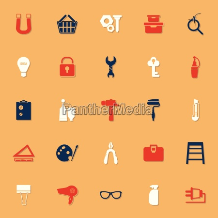 diy classic color icons with shadow