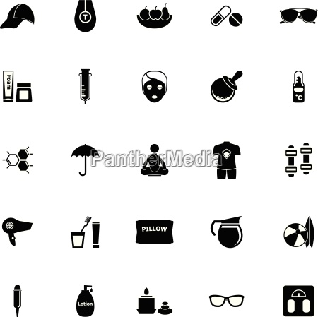 facial and body treatment icons on