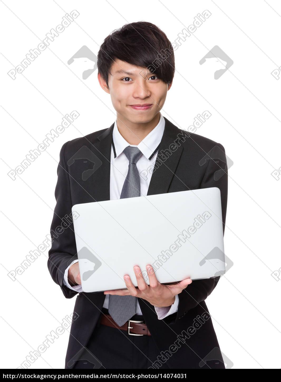 businessman, use, notebook, computer - 14074031