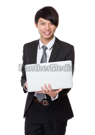 businessman, use, notebook - 14074023
