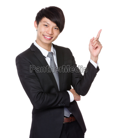 businessman, with, finger, up - 14074165