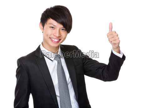 businessman, with, thumb, up - 14074001