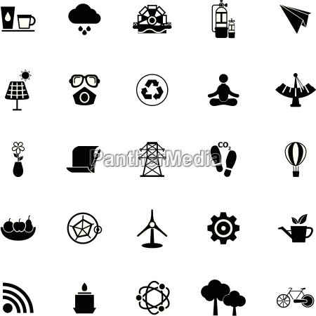clean, concept, icons, on, white, background - 14074533