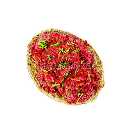 sandwich, with, beet, caviar, and, dill - 14074999