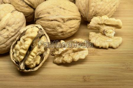walnuts, on, wood - 14074443