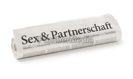 newspaper, roll, with, the, heading, sex - 14075625