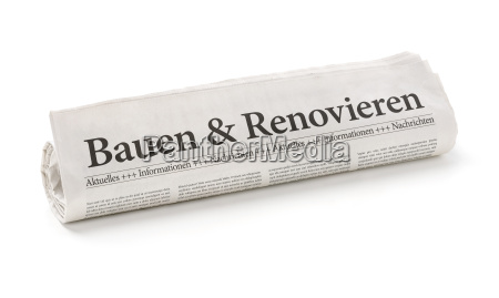 newspaper, roll, with, the, title, building - 14075647