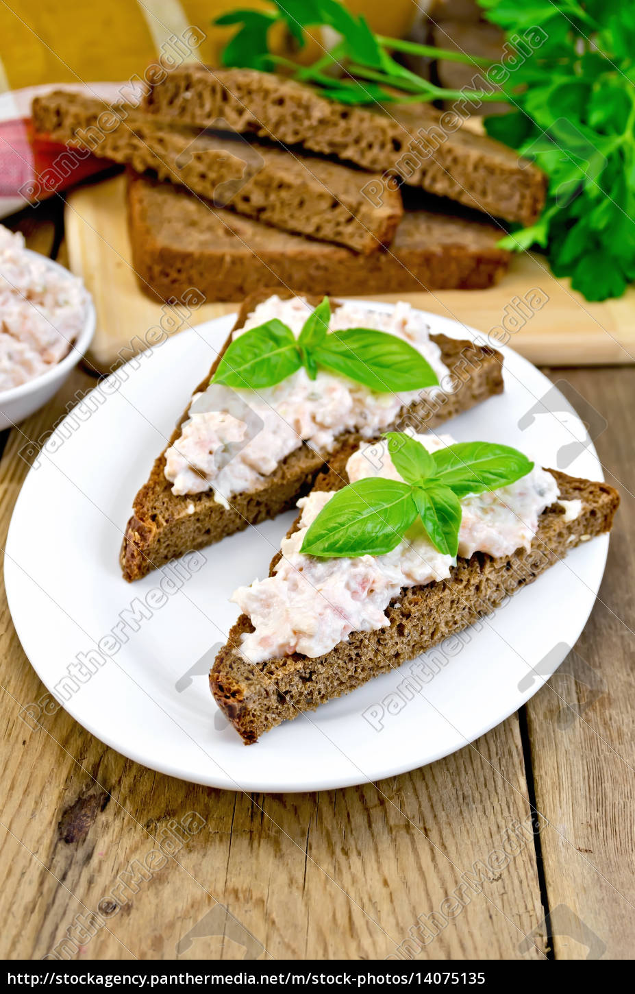 sandwiches, with, cream, of, salmon, with - 14075135