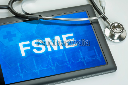 tablet, with, the, diagnosis, fsme, on - 14075567