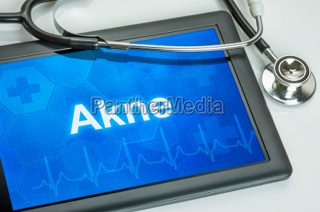 tablet, with, the, text, acne, on - 14075593