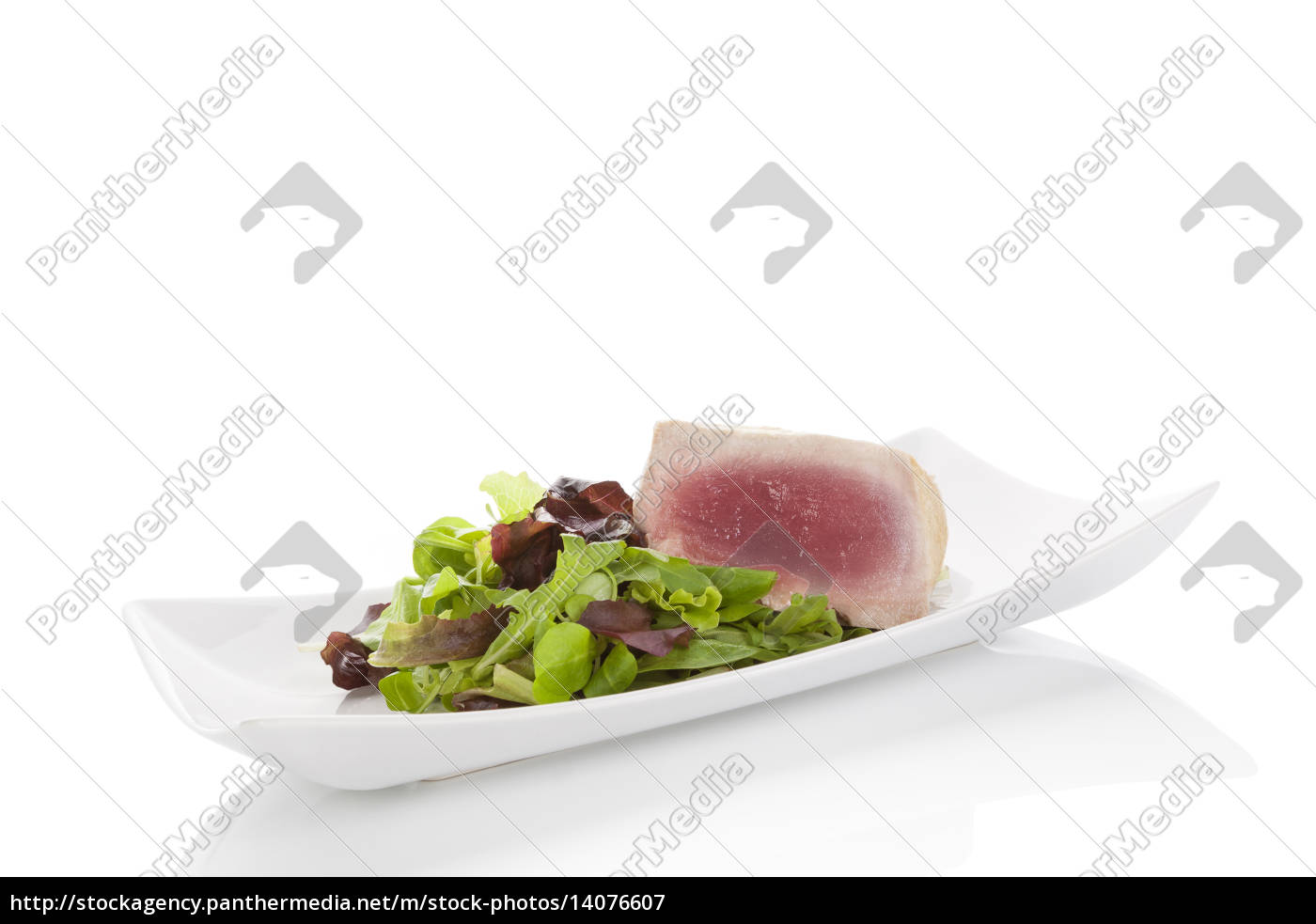 delicious, tuna, steak, with, salad. - 14076607