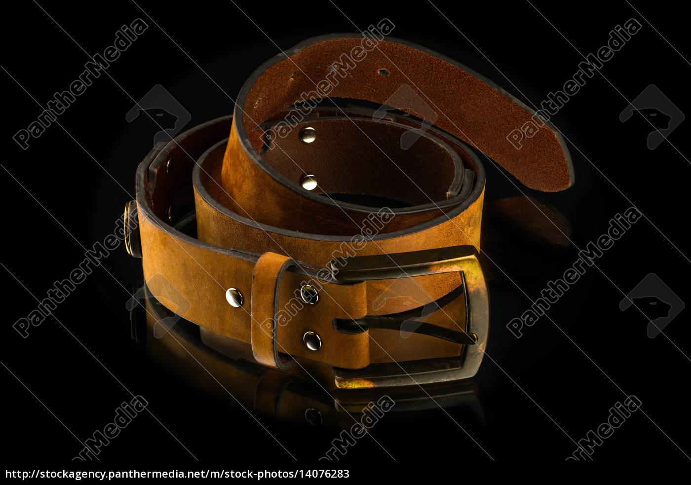 new, stylish, brown, leather, men's, belt - 14076283