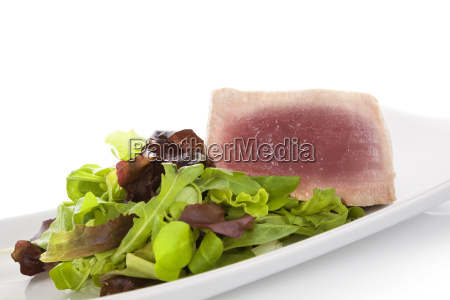 tuna, steak, with, salad. - 14076605