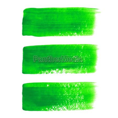green, acrylic, painted, vector, brush, stroke - 14077147
