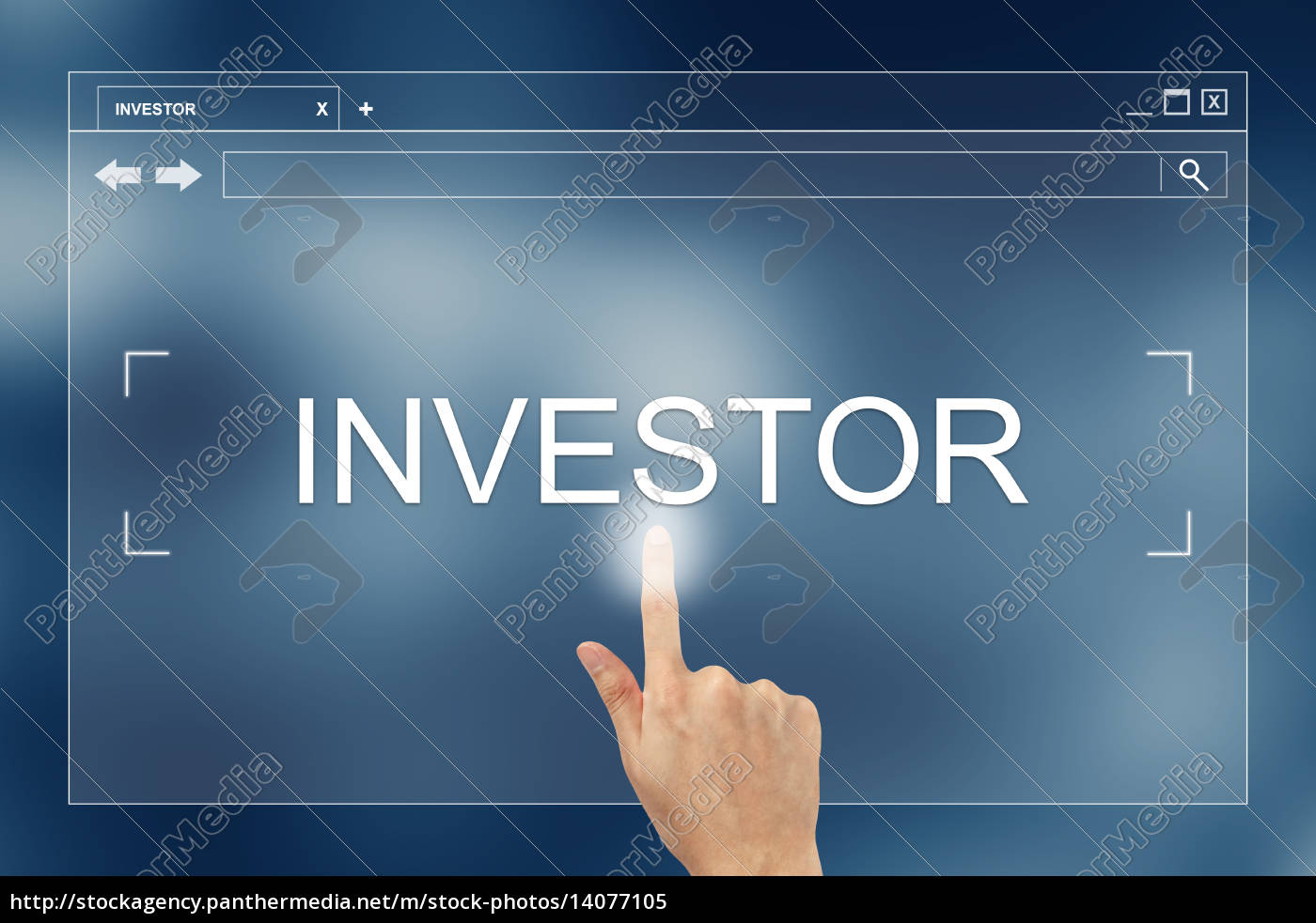 hand, press, on, investor, button, on - 14077105