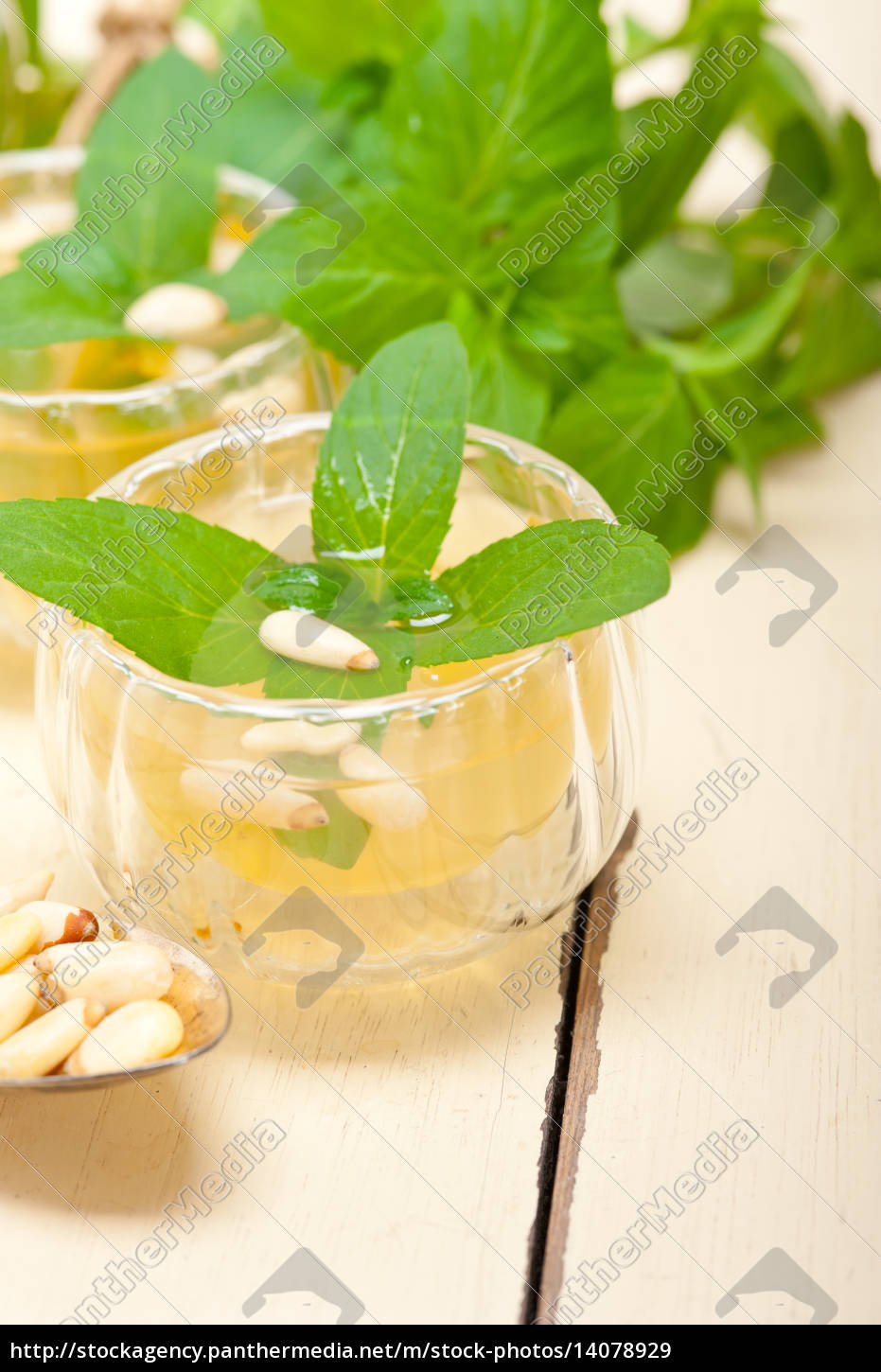 arab, traditional, mint, and, pine, nuts - 14078929