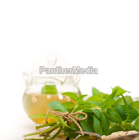 arab, traditional, mint, and, pine, nuts - 14078937