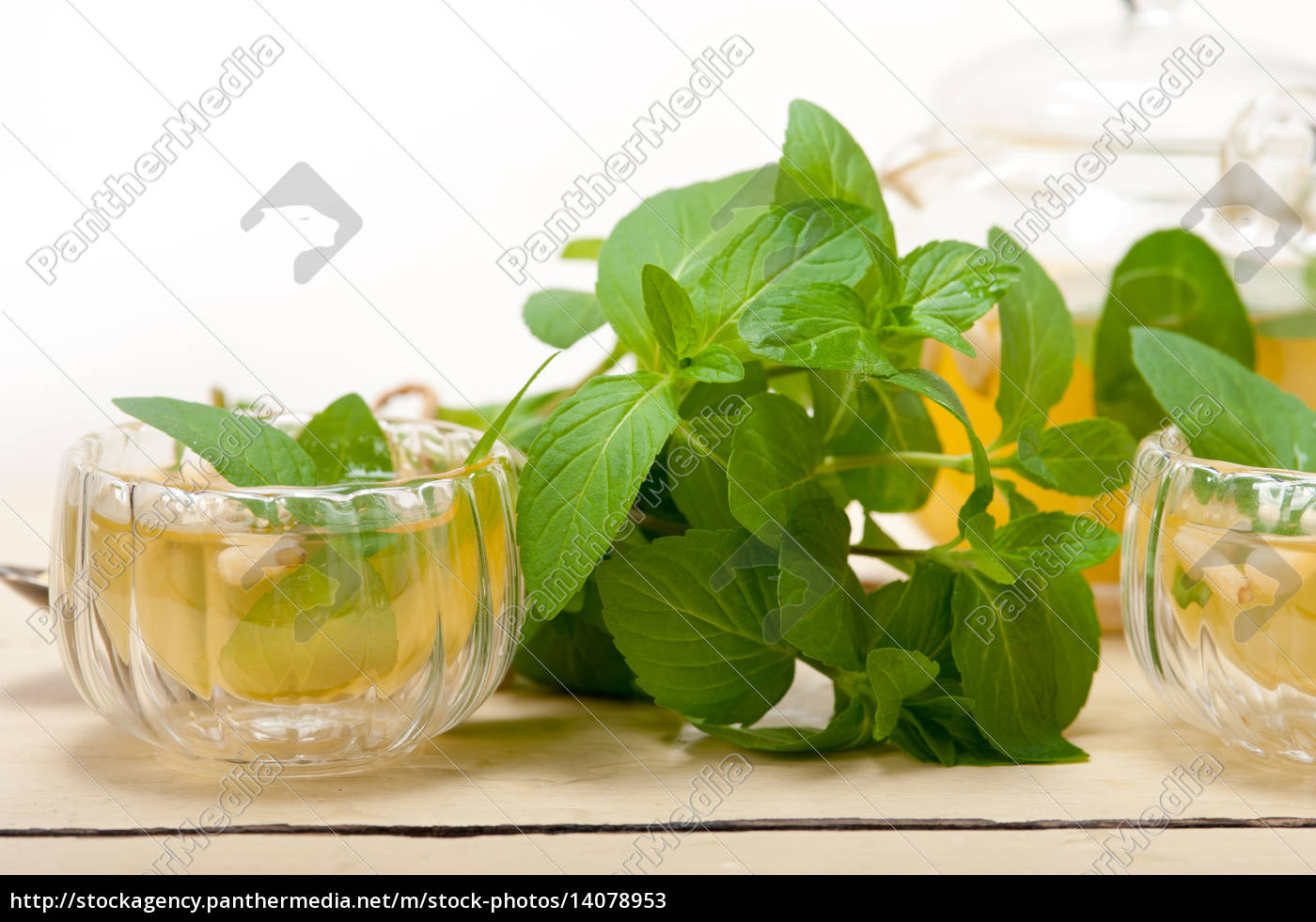 arab, traditional, mint, and, pine, nuts - 14078953
