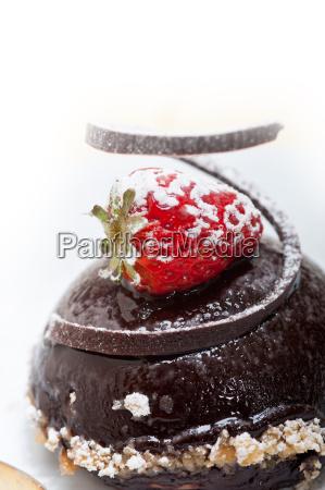 fresh, chocolate, strawberry, mousse - 14078991