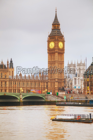 london, with, the, clock, tower, and - 14078229