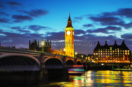 london, with, the, clock, tower, and - 14078257