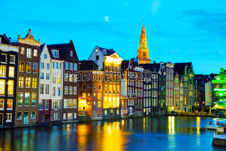 night, city, view, of, amsterdam, , the - 14078329
