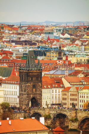 overview, of, old, prague, with, charles - 14078179