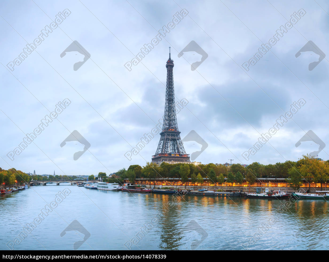 paris, cityscape, panorama, with, eiffel, tower - 14078339