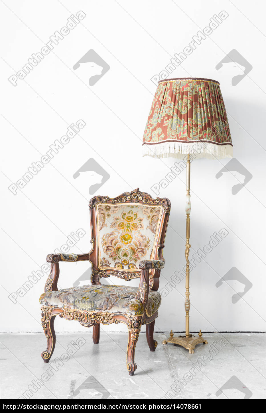 retro, chair, with, lamp - 14078661