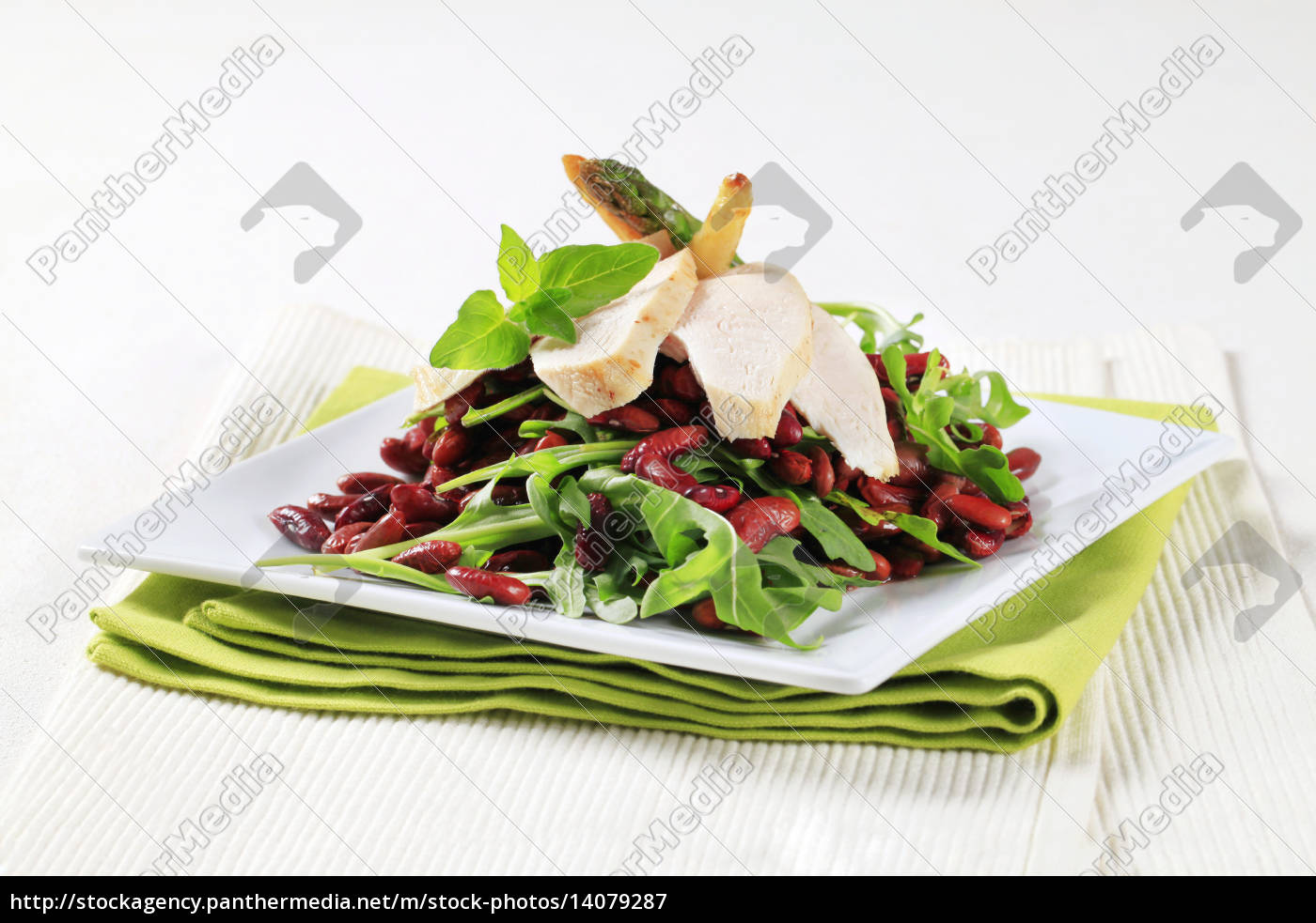 chicken, breast, with, red, beans, and - 14079287