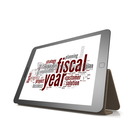 fiscal, policy, word, cloud, on, tablet - 14079101