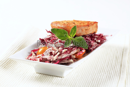 marinated, pork, and, red, cabbage - 14079425